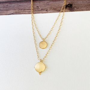 Layered Look Necklaces :: Jaelynn Layered Necklace - Gold
