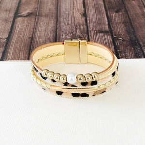 Leopard Layer Wrap Bracelets :: Kyra Leopard Layers