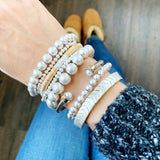 Boutique Bracelet Collection :: Ashley Silver Chevron