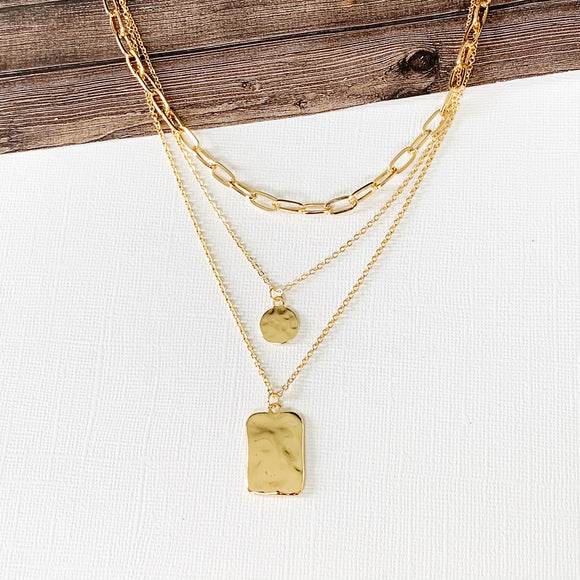Baubles & Bits Boutique :: Kayla Layered Necklace - Gold