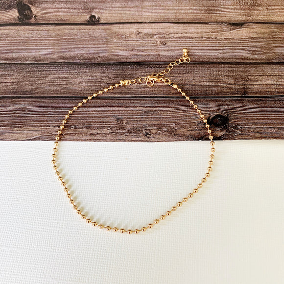 Baubles & Bits Boutique :: Kenna Gold Beaded Anklet