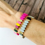 Boutique Bracelet Collection :: Raelynn Grey Mix Marquee Tile Bracelet