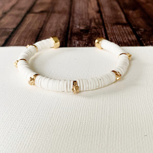 Boutique Bracelet Collection :: Daisy White Starburst Cuff Bracelets
