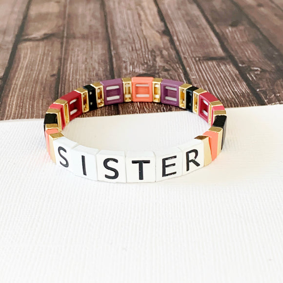 Boutique Bracelet Collection :: Sister Tile Bracelet Multi