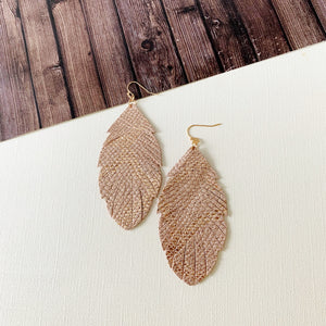 Baubles & Bits Boutique :: Clementine Rose Gold Leaf Drop