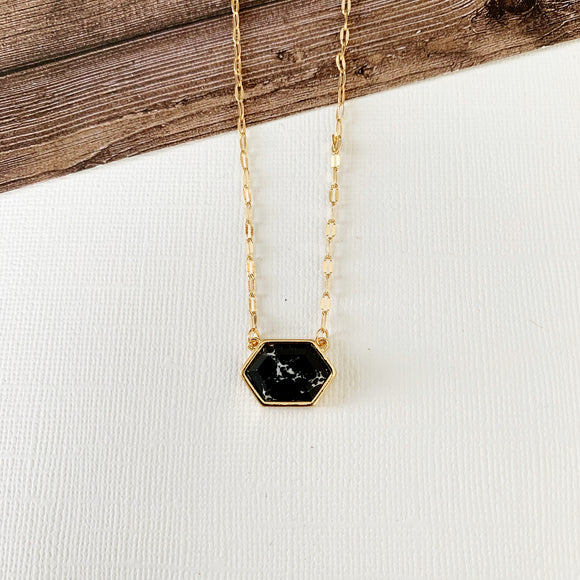 Baubles & Bits Boutique :: Black Howlite Short Necklace