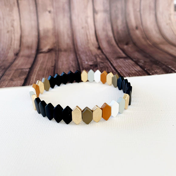 Boutique Bracelet Collection :: Raelynn Black Mix Marquee Tile Bracelet
