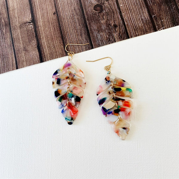 Baubles & Bits Boutique :: Bristol Watercolor Lucite Leaf Drops