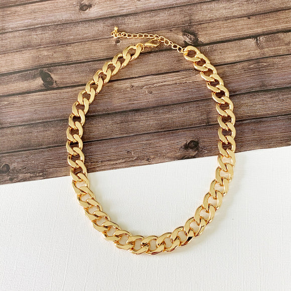 Baubles & Bits Boutique :: Rebecca Chunky Link Necklace - Gold