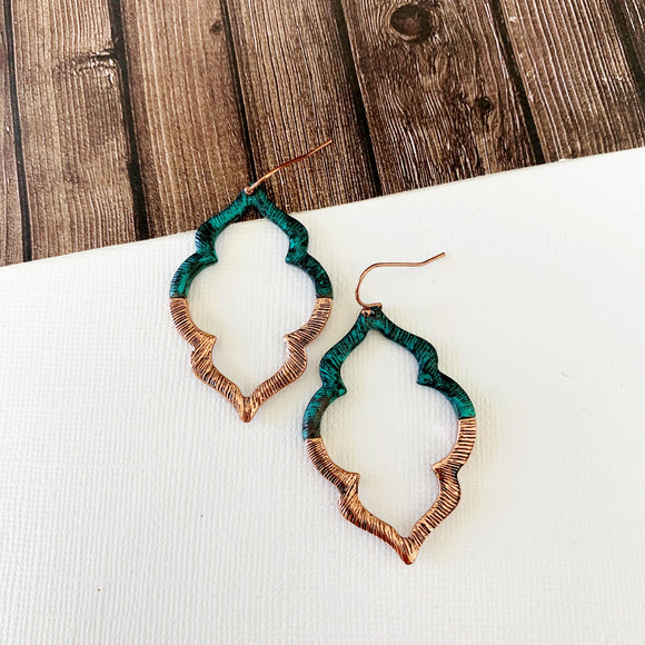Watercolor Earring Collection :: Giselle Patina Moroccan Drops