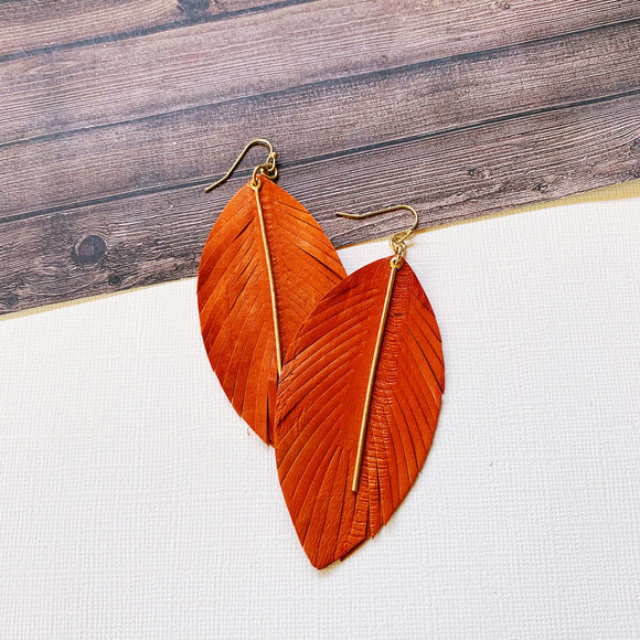 Halloween Party Earring Collection :: Orange Leaves