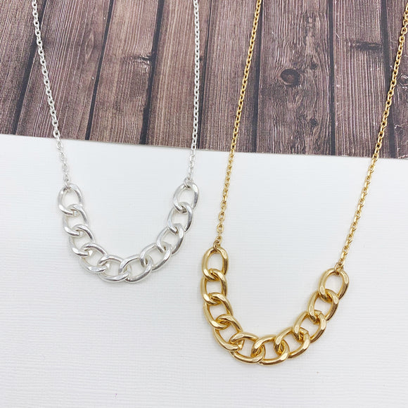 Baubles & Bits Boutique :: Dakota Mixed Chain Necklace - Gold or Silver