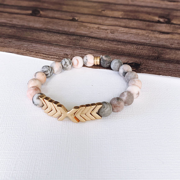 Boutique Bracelet Collection :: Alessia Natural Stone - Rose Quartz