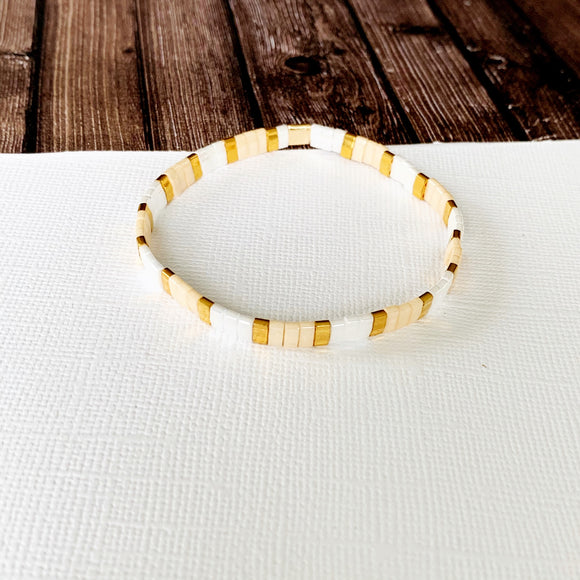Boutique Bracelet Collection :: Teagan Sunrise Skinny Tila Tile Bracelet