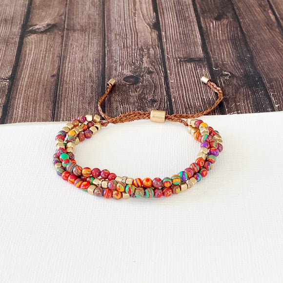Boutique Bracelet Collection :: Iris Multi-Strand Slider