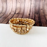 Boutique Bracelet Collection :: Celeste Gold Stacked Ball Bracelets