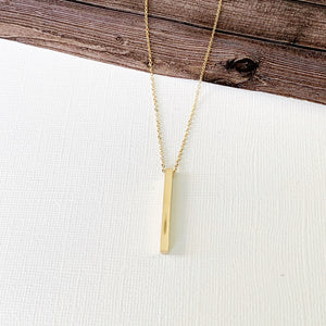 Baubles & Bits Boutique :: Hannah Petite Gold Bar Drop Necklace