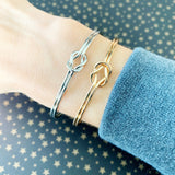 Cable Bracelet Collection :: Nova Love Knot Gold
