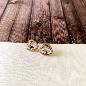 Sparkle & Shine Post-back Earring Collection :: Grace Gold Glamour Teardrops