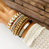 Boutique Bracelet Collection :: Ashley White Chevron Tile Bracelet