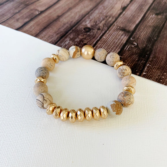 Boutique Bracelet Collection :: Cecelia Natural Stone - Tigerstone