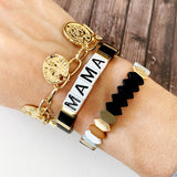 Boutique Bracelet Collection :: Mama Tile Bracelet Black