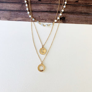 Layered Look Necklaces :: Nia - Howlite