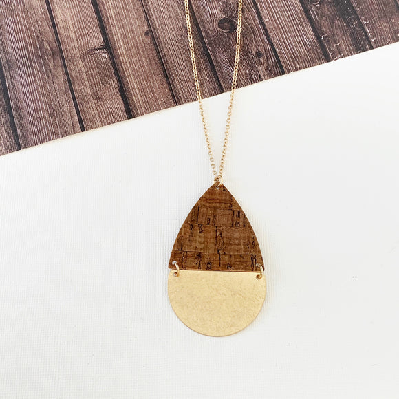 Spring Fever Necklace Collection :: Camian Natural Cork Pendant