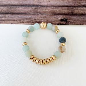 Boutique Bracelet Collection :: Cecelia Natural Stone - Amazonite