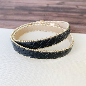 Boutique Bracelet Collection :: Wynter Black Leather Wrap