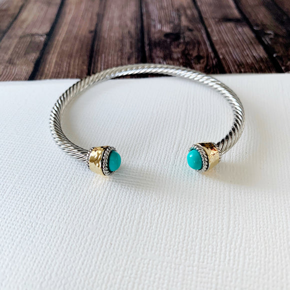 Cable Bracelet Collection :: Callie Turquoise