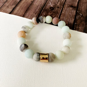 Boutique Bracelet Collection :: Ella Natural Stone - Amazonite