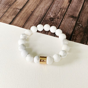 Boutique Bracelet Collection :: Ella Natural Stone - Howlite