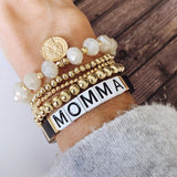 Boutique Bracelet Collection :: Momma Tile Bracelet Black