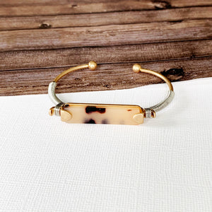 Boutique Bracelet Collection :: Haisley White Tort Cuff Bracelet
