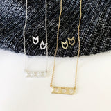 Baubles & Bits Boutique :: Sara Chevron Necklace & Earring Set - Silver