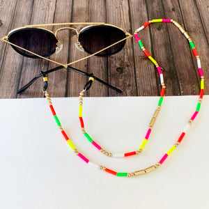 Glasses Chain :: Vally Neon Beaded Chain
