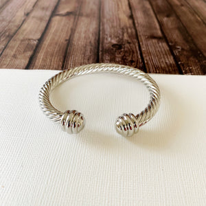 Cable Bracelet Collection :: Jane Silver Cuff