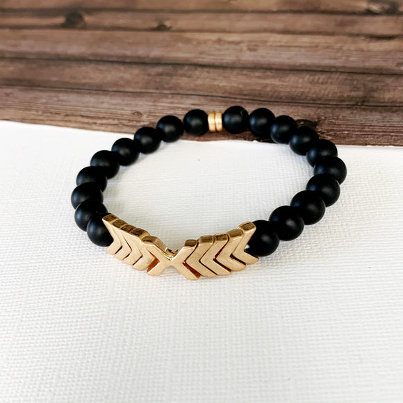 Boutique Bracelet Collection :: Alessia Natural Stone - Onyx
