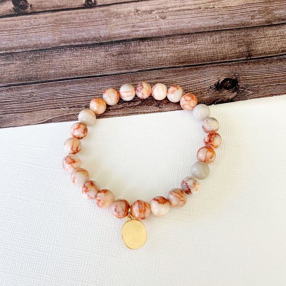 Boutique Bracelet Collection :: Ellie Natural Stone - Rose Quartz