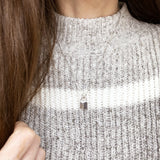 Baubles & Bits Boutique :: Ariana Lock Necklace - Silver