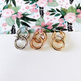 "Hoopla Hoop Earring Collection :: Whittley Rose Gold 3/4"" Hoops"