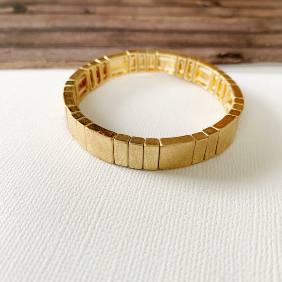 Boutique Bracelet Collection :: Livia Gold Tile Bracelet