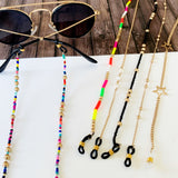 Glasses Chain :: Meredith Black and Gold Beaded Chain