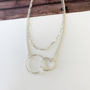 Layered Look Necklaces :: Jess Infinity Links - Silver