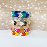 Boutique Bracelet Collection :: Lucy Preppy Chevron Tile Bracelet
