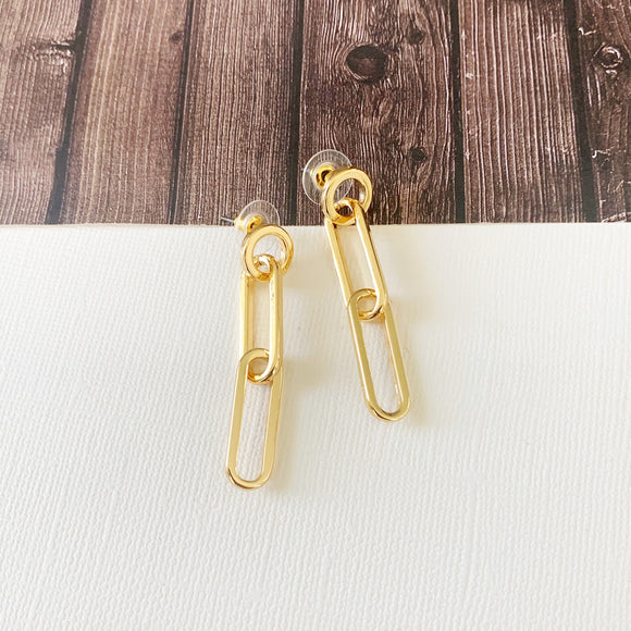 Baubles & Bits Boutique :: Breanna Chain Drop Earrings - Gold