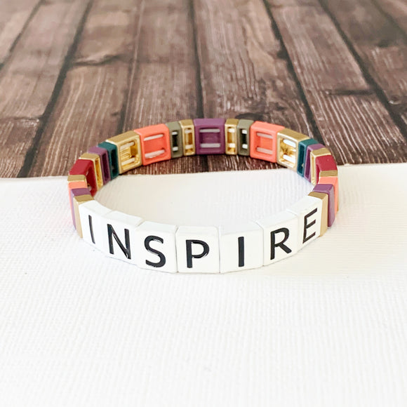 Boutique Bracelet Collection :: Inspire Tile Bracelet Multi