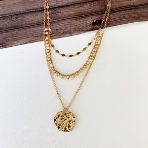 Layered Look Necklaces :: Karen Coin - Gold