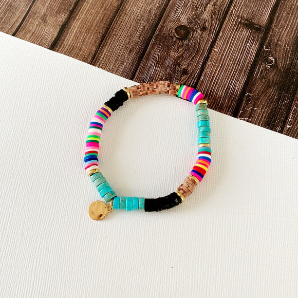 Beach Bracelet Collection :: Aubrie Multi Hued Turquoise